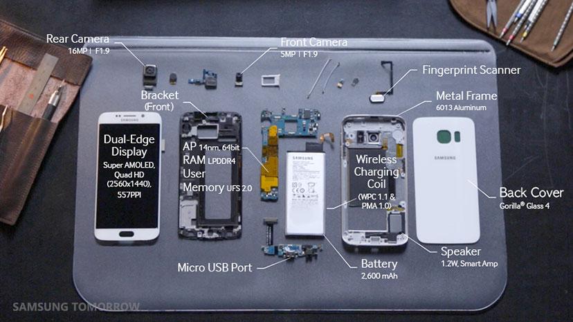 Samsung Shows How The Galaxy S6 Edge Is Assembled | Weboo