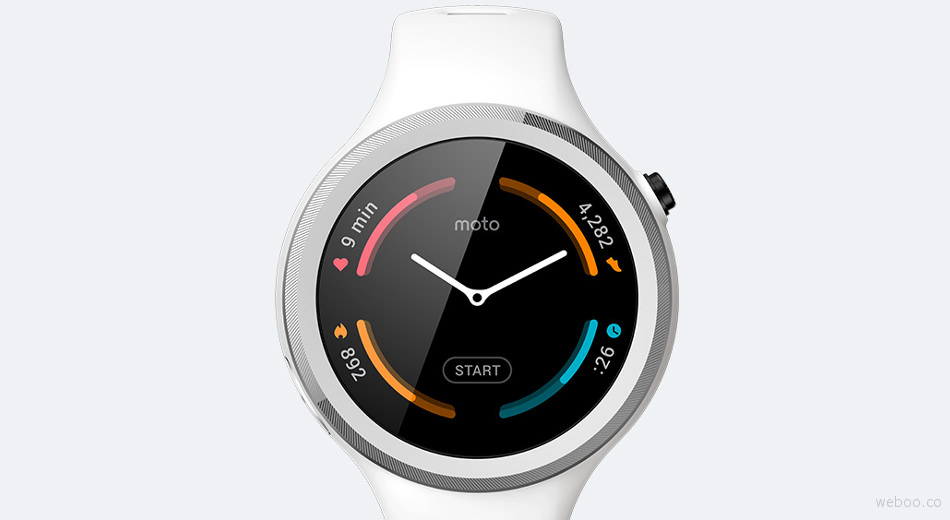 The New Moto 360 Sport Designed for Fitness Enthusiasts with the Built-in GPS Price Specification White