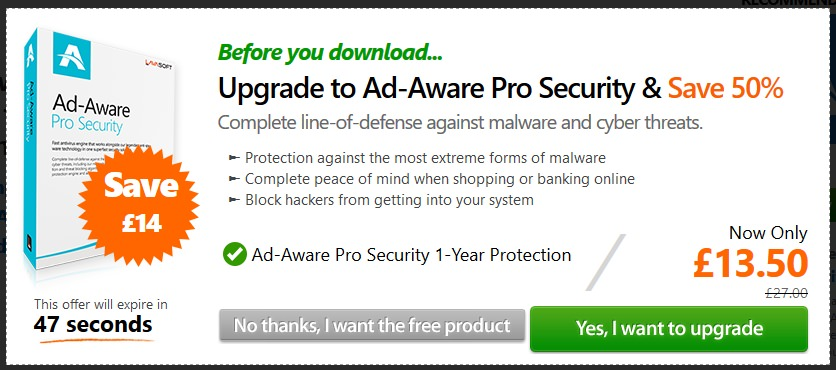 Free Ad-Aware with Free Antivirus Plus