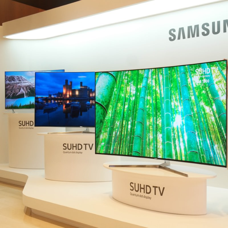 Samsung SUHD 4K Smart TVs 2016 with Quantum dot display