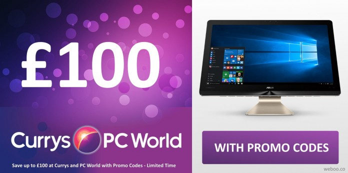 save up to 100 at currys and pc world with these promo codes limited time weboo. Black Bedroom Furniture Sets. Home Design Ideas