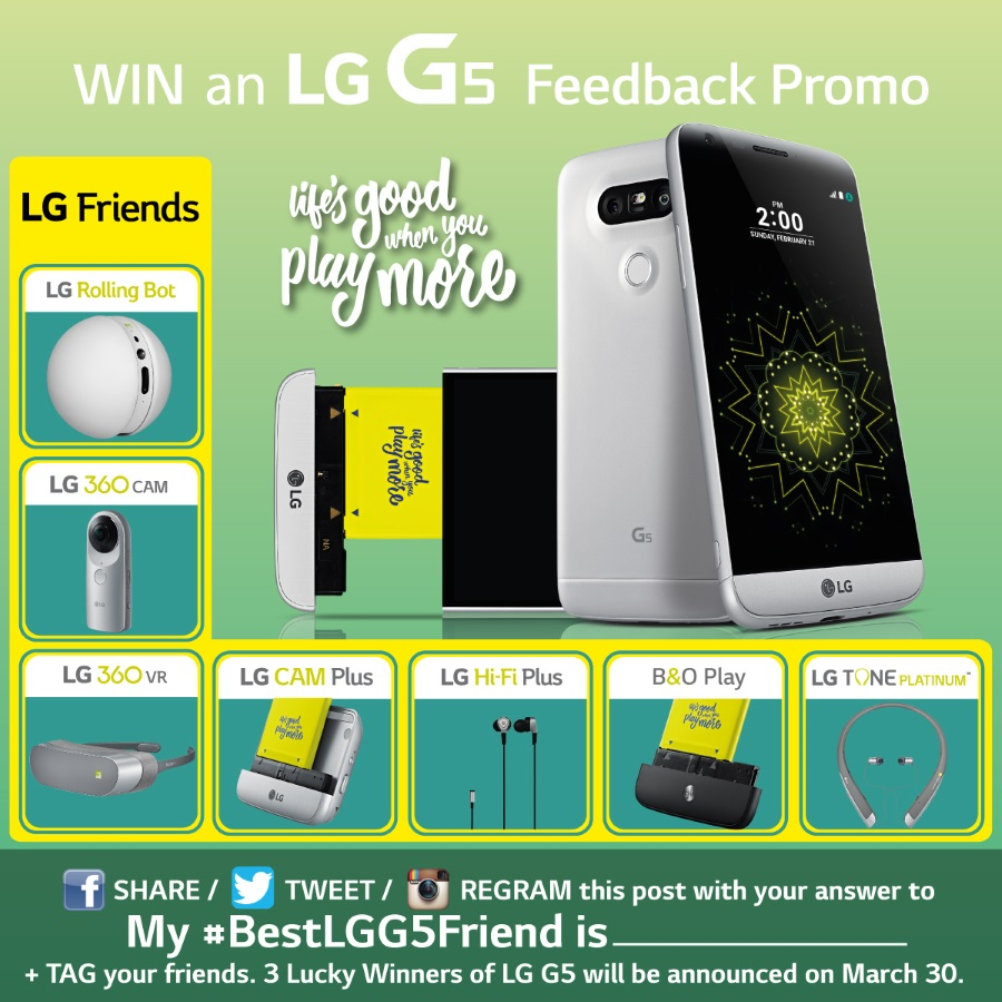 Win Free LG G5 with LG G5s Best Friends Feedback Promo