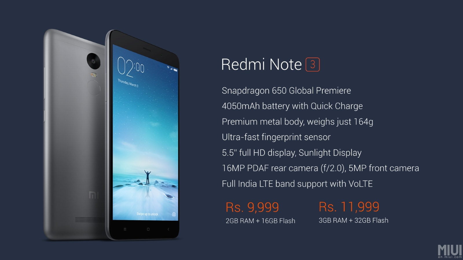 Xiaomi Redmi Note 3 Specifications Price And Features: Xiaomi Redmi Note 3 Launched In India