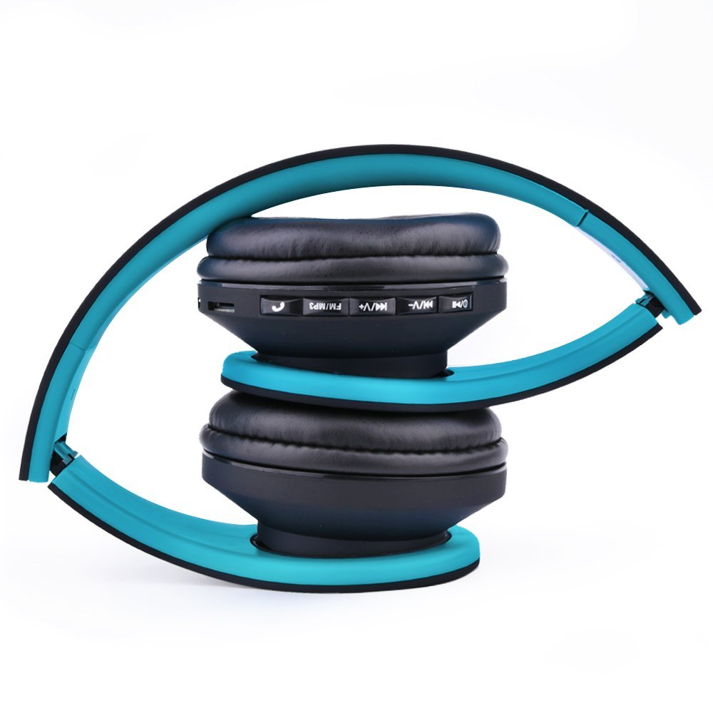 Ecandy Bluetooth Wireless Over-ear Stereo Headphones with Microphone ...
