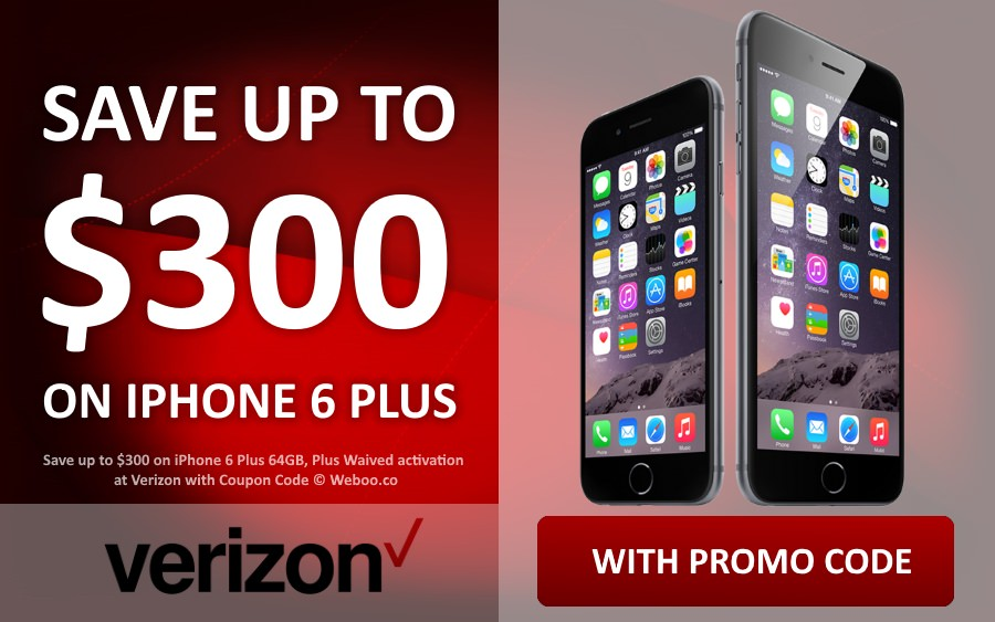 activate new iphone verizon save 300 on iphone 6 plus 64gb plus waived activation 1281